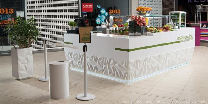 """Corian Matériau fresh&go """"eco bar"""" bar counter design - corian® solid surfaces, corian®"""